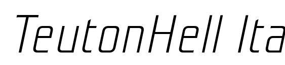 Шрифт TeutonHell Italic