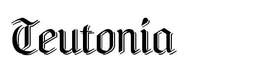 Шрифт Teutonia