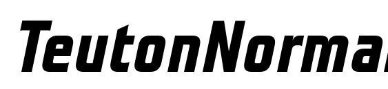 Шрифт TeutonNormal BoldItalic