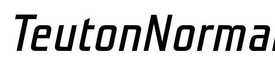 Шрифт TeutonNormal Italic