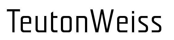 Шрифт TeutonWeiss Bold