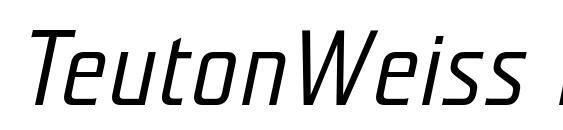 TeutonWeiss BoldItalic font, free TeutonWeiss BoldItalic font, preview TeutonWeiss BoldItalic font
