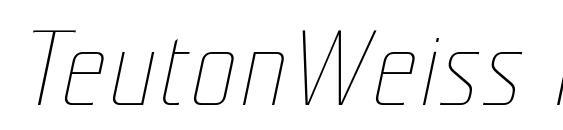 TeutonWeiss Italic Font