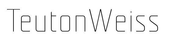 шрифт TeutonWeiss, бесплатный шрифт TeutonWeiss, предварительный просмотр шрифта TeutonWeiss