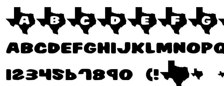 glyphs Texas2 font, сharacters Texas2 font, symbols Texas2 font, character map Texas2 font, preview Texas2 font, abc Texas2 font, Texas2 font