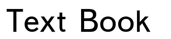 шрифт Text Book, бесплатный шрифт Text Book, предварительный просмотр шрифта Text Book