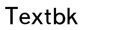 Шрифт Textbk