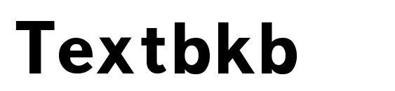 Шрифт Textbkb