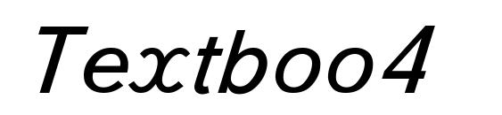 Textboo4 font, free Textboo4 font, preview Textboo4 font