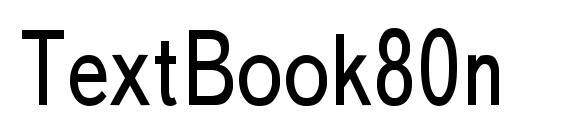 Шрифт TextBook80n