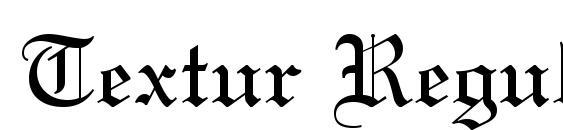 Шрифт Textur Regular