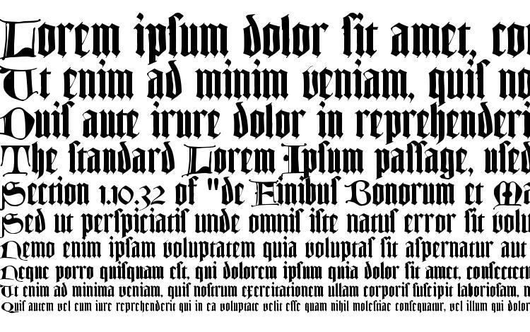 specimens TexturLombardisch LT Dfr font, sample TexturLombardisch LT Dfr font, an example of writing TexturLombardisch LT Dfr font, review TexturLombardisch LT Dfr font, preview TexturLombardisch LT Dfr font, TexturLombardisch LT Dfr font