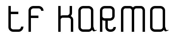шрифт Tf karma, бесплатный шрифт Tf karma, предварительный просмотр шрифта Tf karma