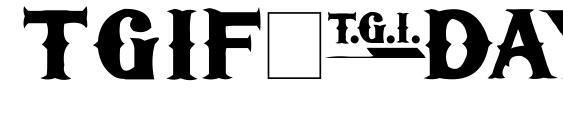 Шрифт TGIFriday