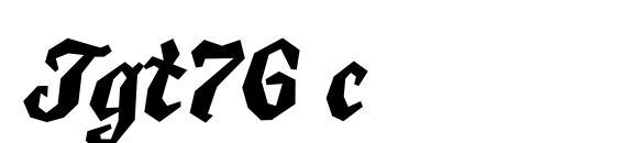Шрифт Tgt76 c