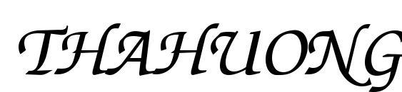 Шрифт Thahuongh 1.1