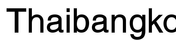Шрифт Thaibangkokssk bold