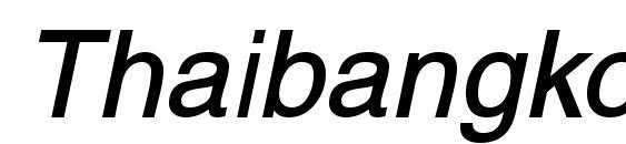 Thaibangkokssk bolditalic font, free Thaibangkokssk bolditalic font, preview Thaibangkokssk bolditalic font