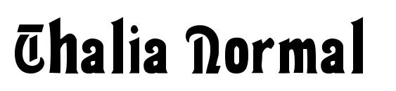 Thalia Normal font, free Thalia Normal font, preview Thalia Normal font