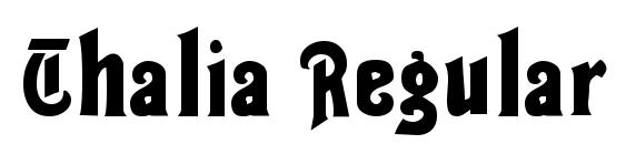 Thalia Regular font, free Thalia Regular font, preview Thalia Regular font