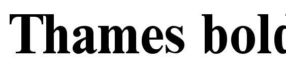 Шрифт Thames bold