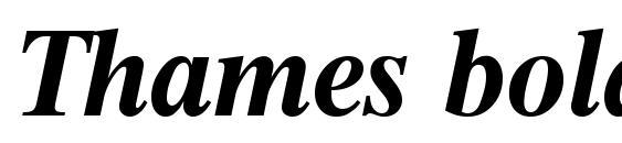 Шрифт Thames boldita