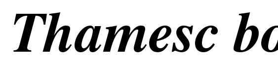 Thamesc bolditalic Font