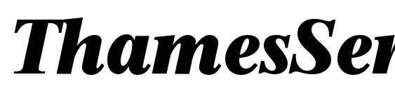 ThamesSerial Heavy Italic Font