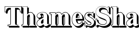 Шрифт ThamesShadow Bold