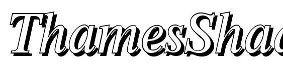 ThamesShadow Italic Font