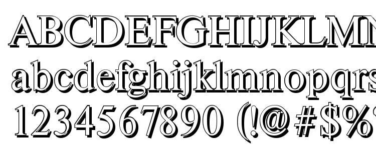 глифы шрифта ThamesShadow Regular, символы шрифта ThamesShadow Regular, символьная карта шрифта ThamesShadow Regular, предварительный просмотр шрифта ThamesShadow Regular, алфавит шрифта ThamesShadow Regular, шрифт ThamesShadow Regular