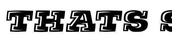 шрифт Thats Super, бесплатный шрифт Thats Super, предварительный просмотр шрифта Thats Super