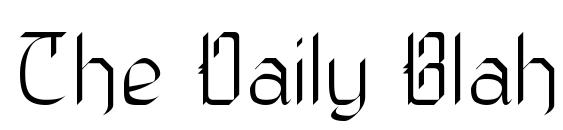 The Daily Blah Font