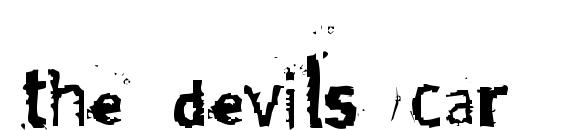 The devils car font, free The devils car font, preview The devils car font