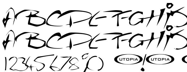 глифы шрифта The Guru Font, символы шрифта The Guru Font, символьная карта шрифта The Guru Font, предварительный просмотр шрифта The Guru Font, алфавит шрифта The Guru Font, шрифт The Guru Font
