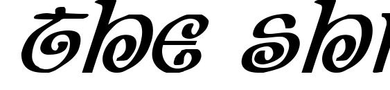 The Shire Bold Italic Font
