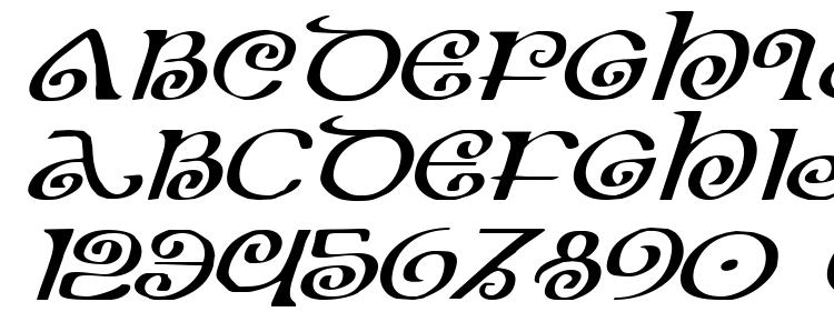 глифы шрифта The Shire Expanded Italic, символы шрифта The Shire Expanded Italic, символьная карта шрифта The Shire Expanded Italic, предварительный просмотр шрифта The Shire Expanded Italic, алфавит шрифта The Shire Expanded Italic, шрифт The Shire Expanded Italic