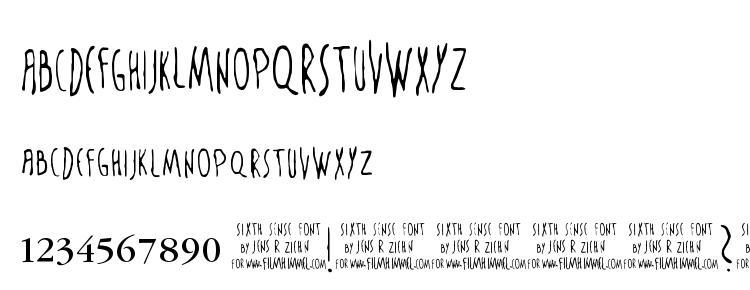 glyphs The Sixth Sense font, сharacters The Sixth Sense font, symbols The Sixth Sense font, character map The Sixth Sense font, preview The Sixth Sense font, abc The Sixth Sense font, The Sixth Sense font