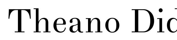 Шрифт Theano Didot Regular