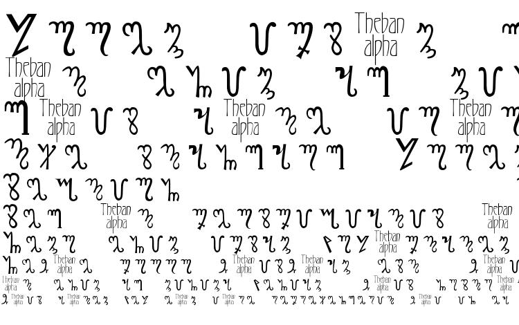 specimens Thebanalphabet font, sample Thebanalphabet font, an example of writing Thebanalphabet font, review Thebanalphabet font, preview Thebanalphabet font, Thebanalphabet font