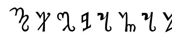 Шрифт Thebanalphabet