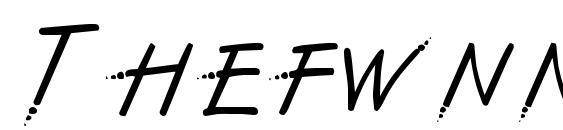 Шрифт Thefwnn