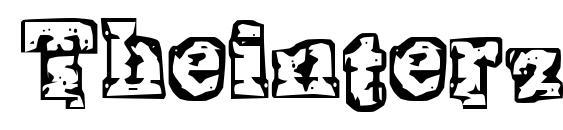 шрифт Theinterz, бесплатный шрифт Theinterz, предварительный просмотр шрифта Theinterz