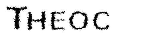 Шрифт Theoc