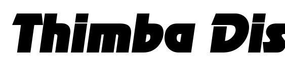 Thimba Display SSi Italic Font