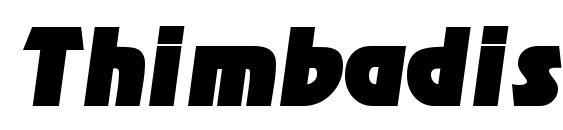 Thimbadisplayssk italic Font