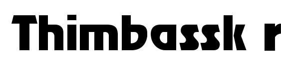 Thimbassk regular font, free Thimbassk regular font, preview Thimbassk regular font
