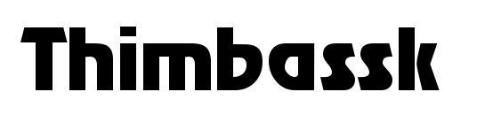 Шрифт Thimbassk