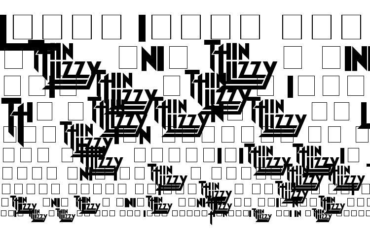 specimens Thin Lizzy Jailbreak font, sample Thin Lizzy Jailbreak font, an example of writing Thin Lizzy Jailbreak font, review Thin Lizzy Jailbreak font, preview Thin Lizzy Jailbreak font, Thin Lizzy Jailbreak font