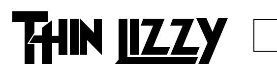 Шрифт Thin Lizzy Jailbreak